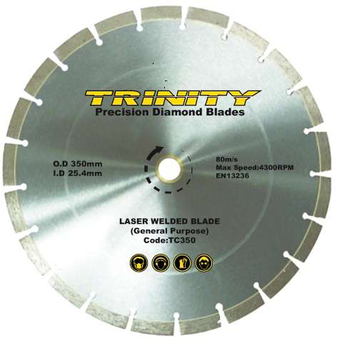 Laser Welded Trinity Range Diamond Blades